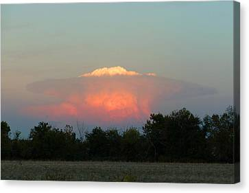 Canvas Print featuring the digital art Anvil Cloud Over Kirksville, Mo by Jana Russon