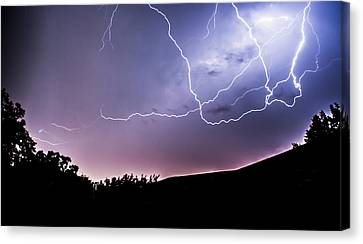 Anvil Crawlers At Night Canvas Print by Shelby  Young