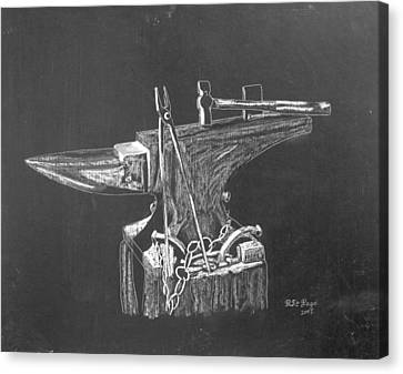 Canvas Print featuring the painting Anvil by Richard Le Page