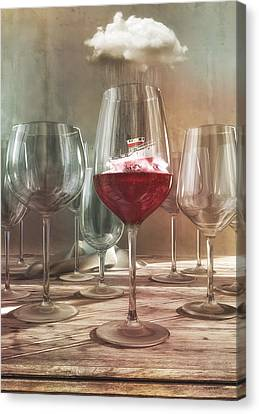 Tasting Canvas Print - Any Port In A Storm by Cynthia Decker