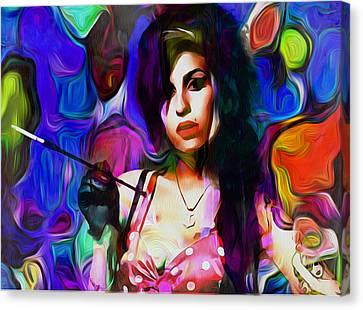 Dean Russo Canvas Print - Amy Winehouse by Galeria Zullian  Trompiz