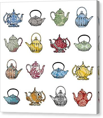 Anyone For Tea Canvas Print by Sarah Hough