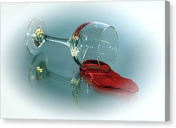 Wine Reflection Art Canvas Print - Anyone Have A Straw by Arnie Goldstein