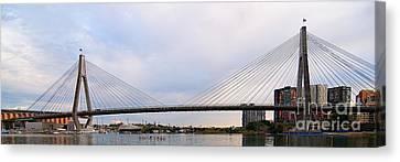 Anzac Bridge. Sydney. Canvas Print by Geoff Childs