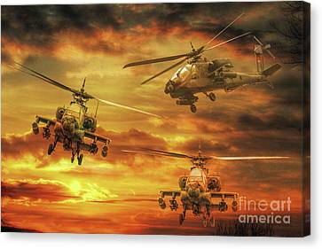 Apache Attack Canvas Print by Randy Steele