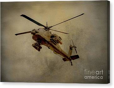 Apache Desert Takoff Canvas Print by Randy Steele