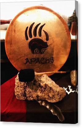 Apache Drum Canvas Print by Ayasha Loya