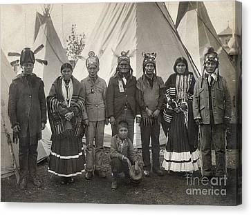 Apache Group, 1904 Canvas Print