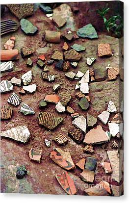 Canvas Print featuring the photograph Apache Pottery Shards by Juls Adams
