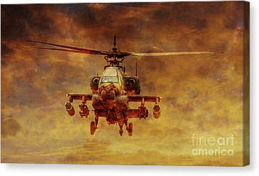 Apache Sunset Canvas Print by Randy Steele