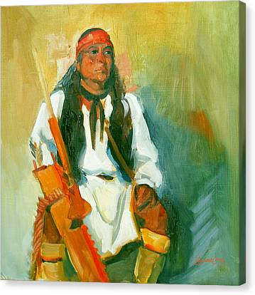 Apache Urban Warrior Canvas Print