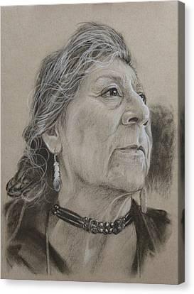 Apache Woman Canvas Print