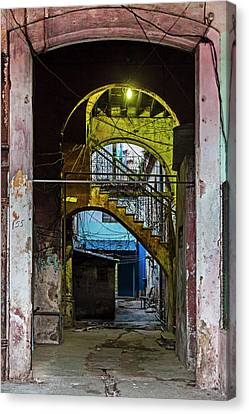 Canvas Print featuring the photograph Apartment Enrance Havana Cuba Near Calle C by Charles Harden