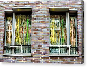 Apartment Window Canvas Print by Tom Gowanlock