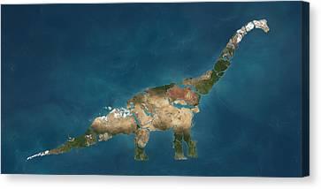 Earth Art - Dinosaur  Canvas Print by Jon Mill