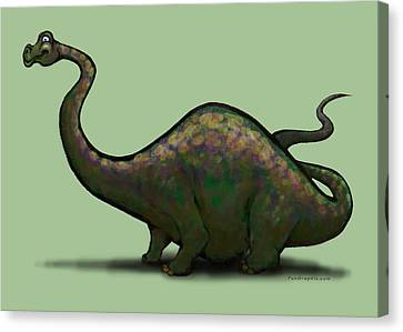 Apatosaurus  Canvas Print by Kevin Middleton