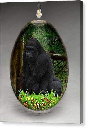 Ape Gorilla Art Canvas Print by Marvin Blaine