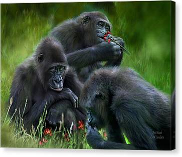 Ape Moods Canvas Print by Carol Cavalaris