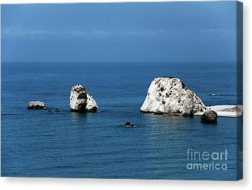 Aphrodite's Rocks Canvas Print by John Rizzuto