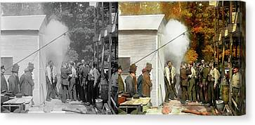 Apocalypse - Apocalypse Party 1923 - Side By Side Canvas Print by Mike Savad