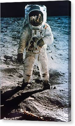 Astronauts Canvas Print - Apollo 11: Buzz Aldrin by Granger