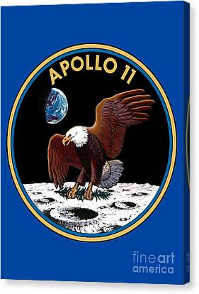 Apollo 11 Patch Canvas Print by Art Gallery