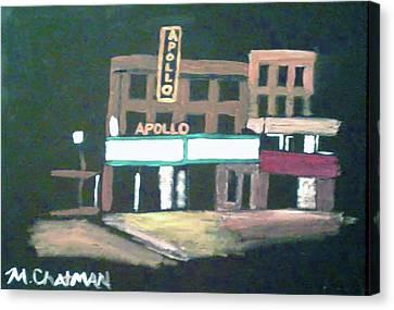 Apollo Theater Canvas Print - Apollo Theater New York City by Michael Chatman