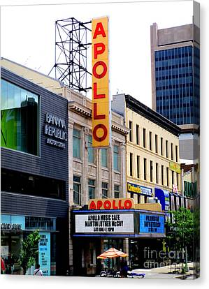 Canvas Print featuring the photograph Apollo Theater by Randall Weidner