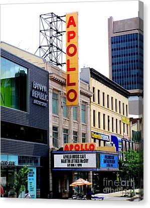 Apollo Theater Canvas Print - Apollo Theater by Randall Weidner