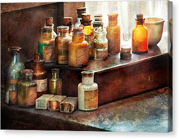 Apothecary - Chemical Ingredients  Canvas Print by Mike Savad