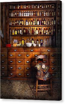 Apothecary - Just The Usual Selection Canvas Print by Mike Savad