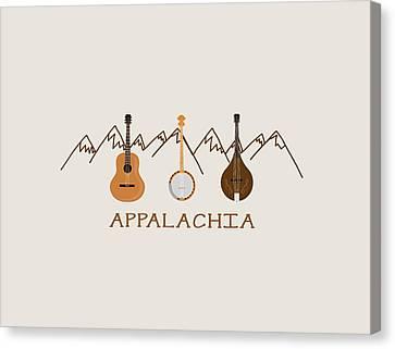 Appalachia Mountain Music Canvas Print by Heather Applegate