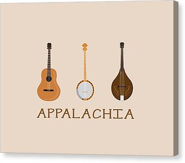 Canvas Print featuring the digital art Appalachia Music by Heather Applegate
