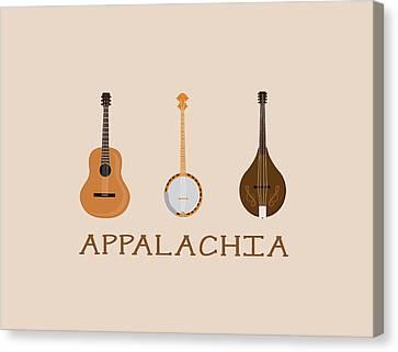 Appalachia Music Canvas Print by Heather Applegate
