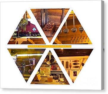 Grocery Store Canvas Print - Appalachian Museum Hexagon Design by Karen Francis