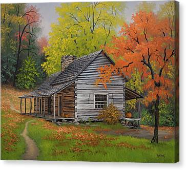 Appalachian Retreat-autumn Canvas Print by Kyle Wood