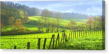 Appalachian Spring Morning Canvas Print by Francesa Miller