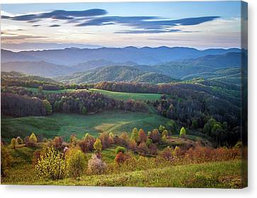 Appalachian Trail Nc Tn Max Patch Spring Morning Canvas Print by Robert Stephens