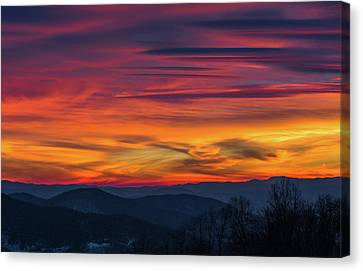 Canvas Print featuring the photograph Appalachian Twilight Ecstasy by Carl Amoth