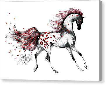 Appaloosa Rose Petals Horse Canvas Print