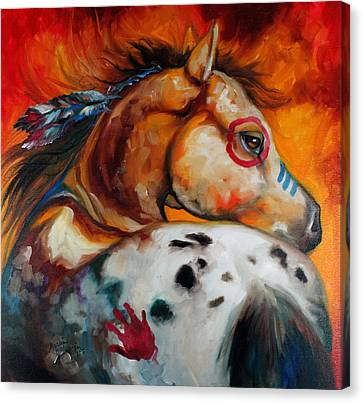 Appaloosa Indian War Pony Canvas Print by Marcia Baldwin