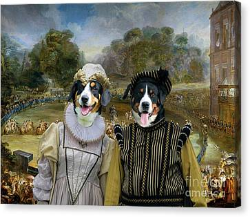Appenzeller Sennenhund - Appenzell Cattle Dog Art Canvas Print -  Las Parejas Reales Canvas Print by Sandra Sij