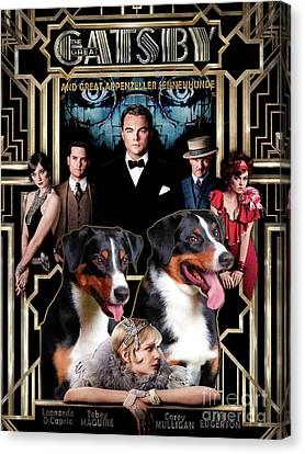 Appenzeller Sennenhund - Appenzell Cattle Dog Art Canvas Print - The Great Gatsby Movie Poster Etsy. Canvas Print by Sandra Sij