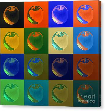 Apple 29 Canvas Print by Flo Ryan