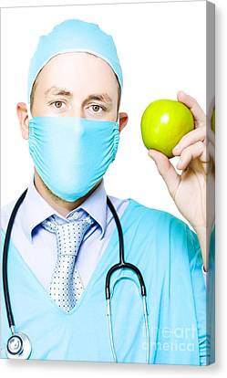 Apple A Day Keeps The Doctor Away Canvas Print by Jorgo Photography - Wall Art Gallery