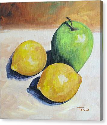 Apple And Lemons Canvas Print