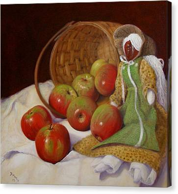 Canvas Print featuring the painting Apple Annie by Donelli  DiMaria