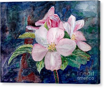 Apple Blossom - Painting Canvas Print by Veronica Rickard