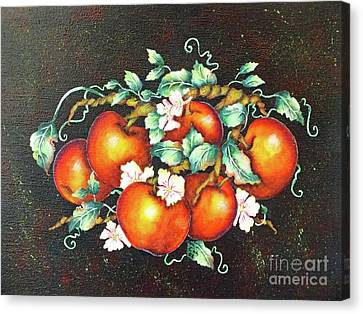 Arcylic Canvas Print - Apple Blossom Time by Cindy Treger