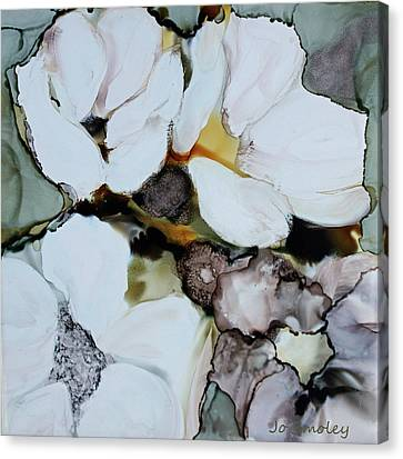 Canvas Print featuring the painting Apple Blossoms by Joanne Smoley